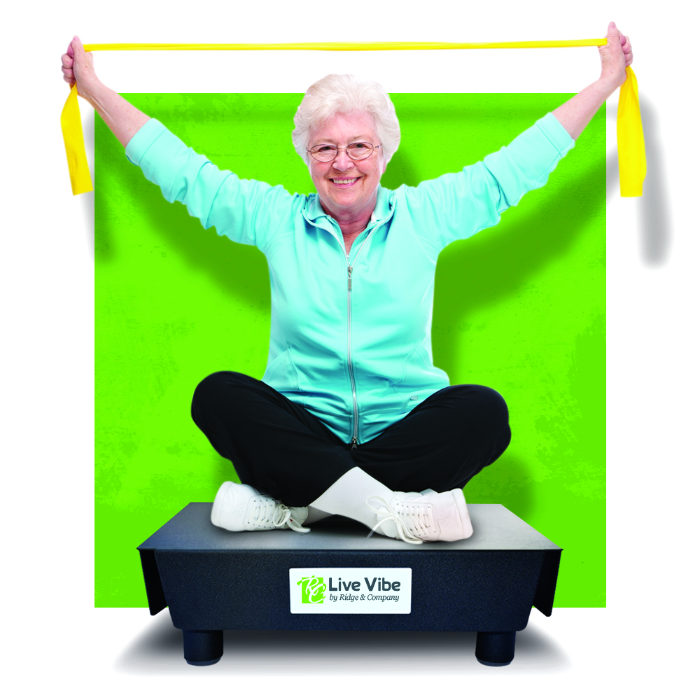 whole body vibration is great for senior adults helping with flexibility, Balance & Muscle Strength